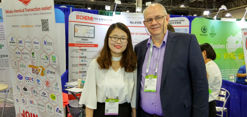 Echemi's First Day in IFT Meeting & Food Expo 2017