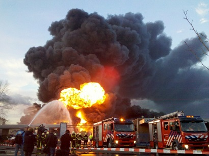 Two people injured in an Italian chemical plant explosion