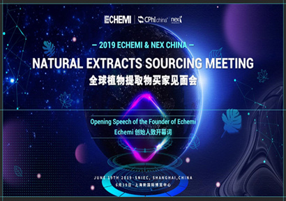 Opening Speech of the Founder of Echemi at the Natural Extracts Sourcing Meeting