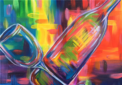 WineTimeAcrylic-Painting