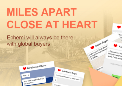 Miles apart, close at heart - Echemi will always be there with global buyers.