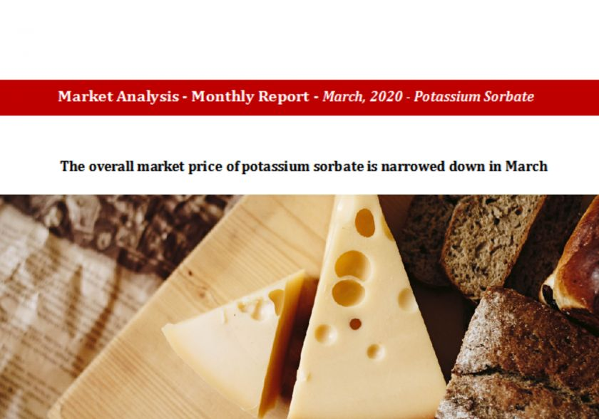 The overall market price of potassium sorbate is narrowed down in March