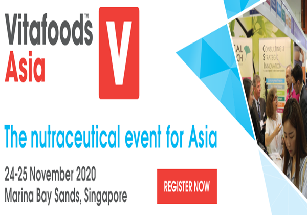 Vitafoods Asia 2020 will be held in November