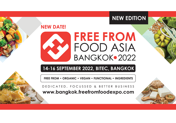 Free From Food Asia is rescheduled to 14–16 September 2022